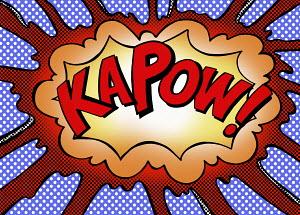 Kapow exploding speech bubble
