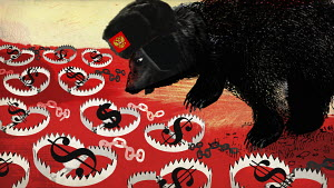 Russian bear stopped by dollar bear traps