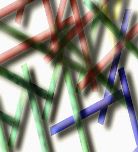 Abstract pattern of crisscrossing lines