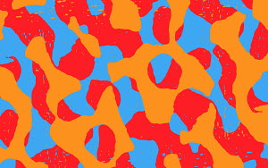 Abstract bright squiggle pattern