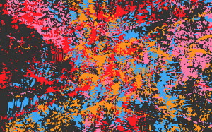 Abstract full frame messy splattered pattern