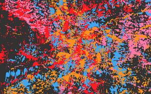 Abstract full frame messy splattered pattern