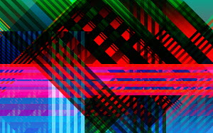 Abstract pattern of criss crossing stripes