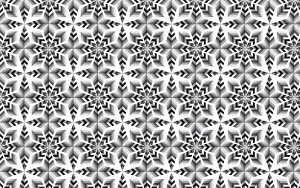 Abstract black and white mosaic tile background pattern