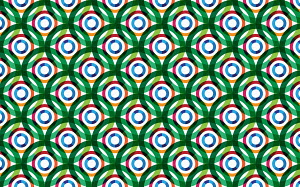 Abstract full frame overlapping circles pattern