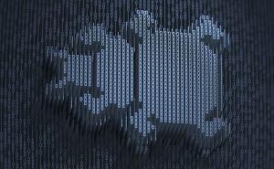 Computer bug in three dimensional binary code