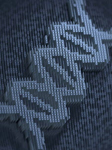 Double helix in three dimensional binary code