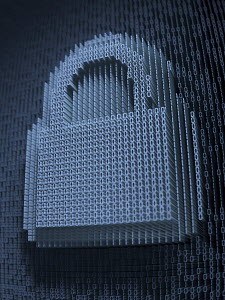Padlock in three dimensional binary code