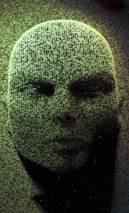 Three dimensional face emerging in binary code