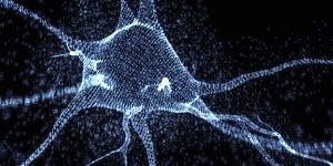 Glowing three dimensional neuron in binary code