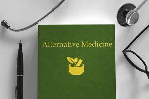 Medical book about alternative medicine