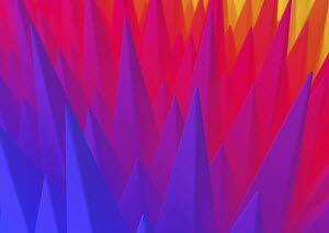 Abstract spiked pattern in colour gradient