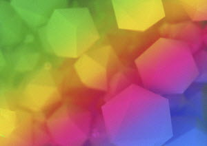 Abstract geometric shapes in colour gradient