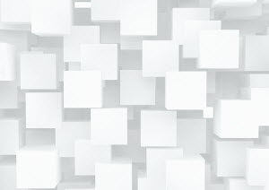 Abstract pattern of lots of white cubes
