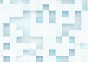 Three dimensional square grid pattern