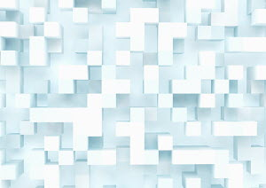 Three dimensional cube grid pattern