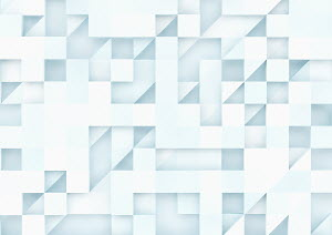 Three dimensional square and triangle grid pattern
