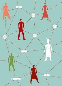 People and medicine connected in health service network