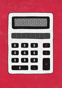 Calculator with dollar sign buttons