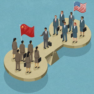 China and United States negotiating on seesaw