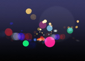 Glowing multi coloured circles