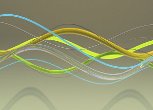 Abstract tubes in wave pattern