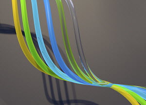 Flowing translucent tubes