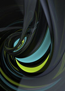 Abstract shiny swirl pattern