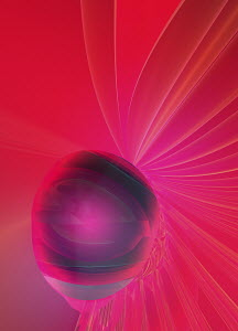 Vibrant abstract pink glowing sphere