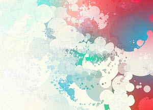 Pastel colour abstract bubble pattern