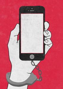 Man handcuffed to smart phone