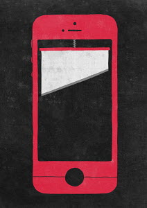Guillotine on smart phone screen