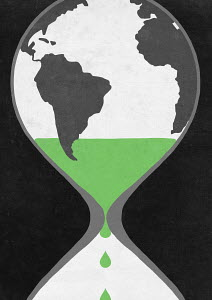 Time running out for the world inside of hourglass