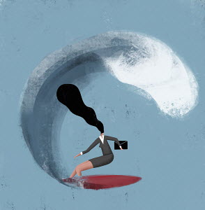Businesswoman surfing