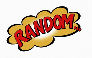 The word Random in speech bubble