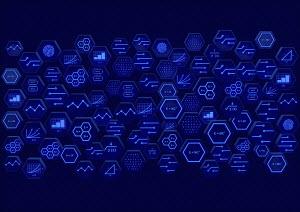 Hexagonal blocks of circuit board and mathematical formulae