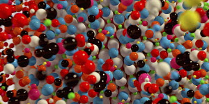 Full frame abstract backgrounds pattern of multi coloured balls