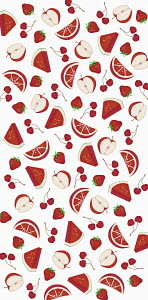 Full frame pattern of red fruit