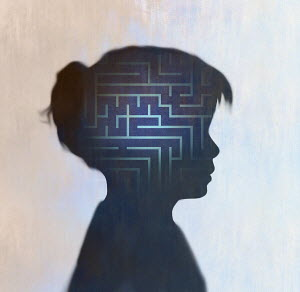 Maze inside of girl's head