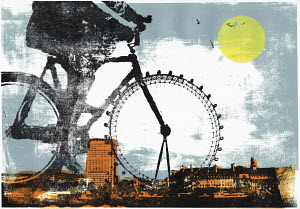 The London Eye as bike wheel