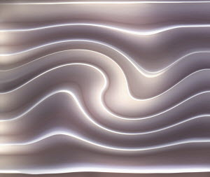 Abstract grooved wave pattern