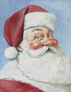 Close up portrait of traditional Father Christmas