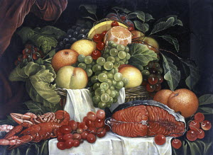 Still life in style of old master painting