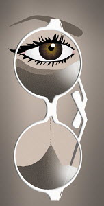 Time running out in hourglass spectacles
