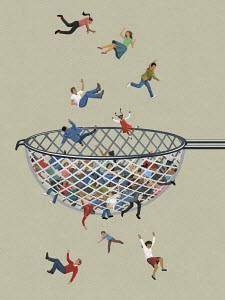 People falling through the net