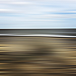 Motion blur abstract coastline