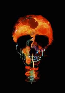 Glowing skull light bulb