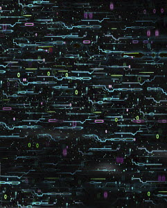 Abstract digital technology pattern