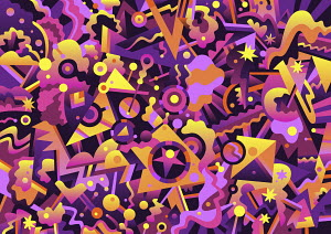 Vibrant abstract full frame pattern