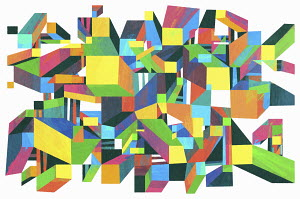 Abstract geometric three dimensional pattern